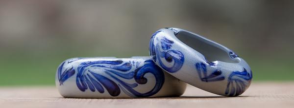 Sazglasur Windaschenbecher Handbemalt