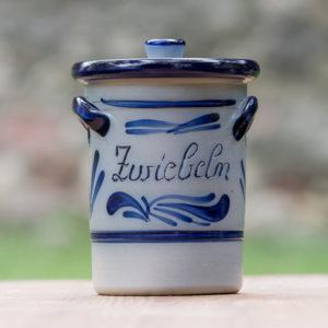 Handbemalter Zwiebeltopf konisch mit angelegtem Henkel