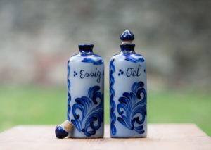 Salzglasur 0,5 Liter Essigflasche und Ölflasche